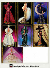 1997 Tempo World Of Barbie Trading Cards Bob Mackie Subset (7)--RARE