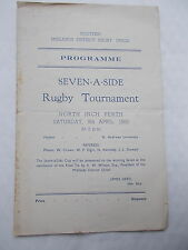 Scottish Midlands District Rugby Union Seven-A-Side Rugby Tournament 9/4/1955