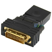 360° Rotat DVI Male to HDMI Female Jack Adapter Connector Converter For HDTV LCD