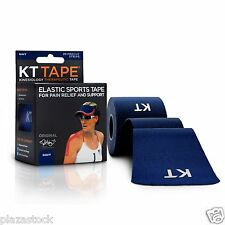 KT Tape Original Cotton Kinesiology Tape - 1 Roll of 20 Precut Strips Navy Blue