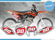KTM SX SXF EXC EXC-F MOTORCROSS BACKGROUNDS 85 125 150 250 450 DECALS / STICKERS