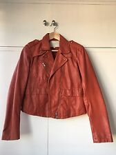 Gorgeous MAJE leather jacket - burnt red/orange colour