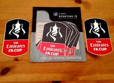 2015-17 Emirates FA CUP Football PS-Pro Sporting iD Soccer Badge Patch Set(2pcs)