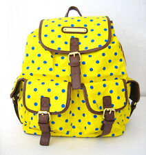 NWT Anna Smith Retro Polka Dots Spot LYDC Ladies Backpack Yellow/Brown