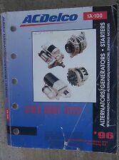 1996 AC Delco Alternator Generator Starting Motor Starter Distributor Manual  N