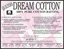 Quilt Batting Quilters Dream Cotton Natural Select Loft Sampler Crafting Batts