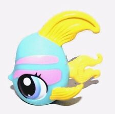 Littlest Pet Shop LPS Blue Angelfish Yellow Fin Pink Stripes Blue Dot Eyes #1721