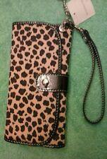 liz claiborne leapard wristlet wallet