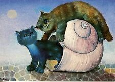 POSTCARD CARTE POSTALE ILLUSTRATEUR RENATE KOBLINGER N° LA 232 CAT / CHAT
