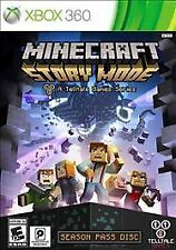 Minecraft Story Mode Xbox 360 Game Adult Owned Mint Condition