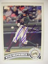 KYLE SKIPWORTH signed MARLINS REDS 2011 Topps Pro Debut baseball card AUTO # 150