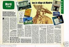 Coupure de presse Clipping 1985 (2 pages) Dans le village de Mandrin