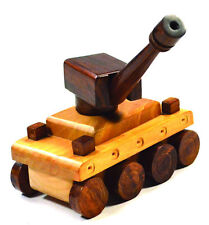 Handmade Handcrafted Wooden Toy Tank For Kids Home Decor Showpiece Gift 50% Off