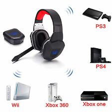 Wireless Fiber-optical Stereo Gaming Headphone with mic for Xbox One/360 PS3/4