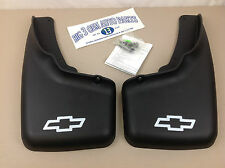 1999-2006 Chevrolet Silverado Front Molded MUD FLAPS w/ wheel flares new OEM