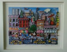 "Charles Fazzino original puzzle 3-D picture ""Going Uptown"" New York"