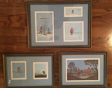 Native American Numbered Art Pieces By Johnny Tiger Jr. Professionally Framed
