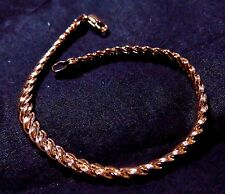 "9K Rose Gold Filled 4mm 8"" Chain Bracelet  & Lobster Clasp"