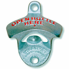 Wall Mounted Bottle Opener - 'Open Bottle Here'