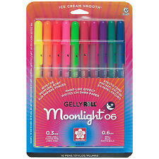 Sakura Gelly Roll Moonlight - 10pk Fine Line Assorted Color Pen Set