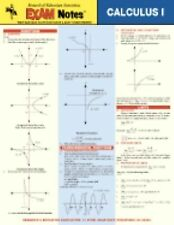REA Exam Notes Calculus 1 Laminated Cheat Sheet Math Study Guide Booklet