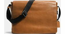 COACH METROPOLITAN COURIER IN SPORT CALF LEATHER #72061 SADDLE MESSENGER BAG NWT