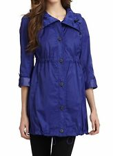 Nwt $258 Andrew Marc New York Lindsey Anorak Coat Jacket Parka Top ~Indigo *S