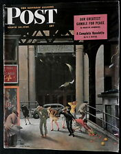 Saturday Evening Post  March 23, 1946 FOREIGN POLICY - TV - RED SOX - DU BARRY -