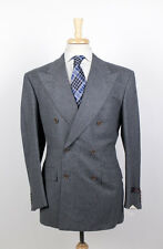 New D'AVENZA Gray Striped Wool Double Breasted Suit 50/40 R $3995