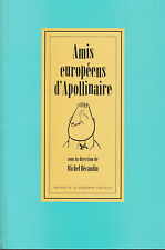 M. DECAUDIN  AMIS EUROPEENS D'APOLLINAIRE COLLOQUE DE STAVELOT 1993