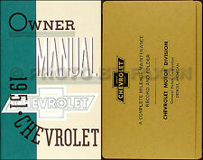 1951 Chevrolet Car Owners Manual Package with Envelope 51 Chevy Owner