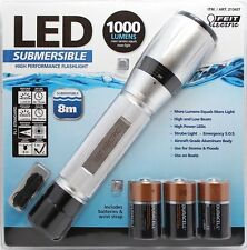 FEIT High Performance Submersible 8m 1000 Lumens LED Flashlight Torch Boats