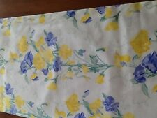 "Laura Ashley Table Runner 56  x 11"". Fully lined Blue and Yellow  flowers"