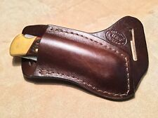 Buck 110/112 Custom Leather Crossdraw Sheath (right hand)