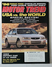 MOTOR TREND CAR MAGAZINE 1995 FEBRUARY NISSAN MAXIMA IMPORT OF THE YEAR AWARD
