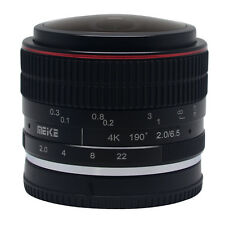 Meike 6.5mm F/2.0 Fisheye Lens Manual Focus Lens for Canon EF-M Mount Lens