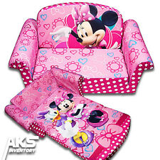 Minnie Mouse Flip Open Sofa Convertable Couch Lounger Toddler Children Kids New