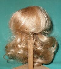 """doll wig/ human hair 11"""" to 12"""" blond, curls hand knitted"""