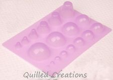 Quilled Creations Mini Quilling Mold Domes Shaping Tool 3D Paper Craft DIY