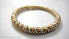PLAIN Copper & Brass Twisted Braid Cuff Bracelet Wristlet Wristband - 7 mm Thick