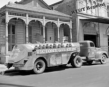 Photograph Vintage Victory Oil Delivery Truck New Orleans  1943   8x10