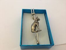 "Egyptian Cat ECPPIN kilt pin Scarf or Brooch pin pewter emblem 3"" 7.5 cm"