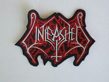 UNLEASHED EMBROIDERED LOGO DEATH METAL PATCH