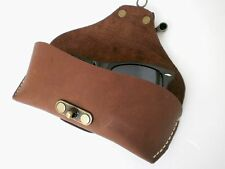Celyfos ® Handmade  Italian leather Eye glasses case for Browline glasses