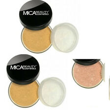 Mica Beauty 2x Mineral Foundation MF-6 CREAM CARMEL  +Free Matching Bronzer