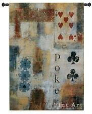 "Poker Abstract Contemporary Modern Wall Tapestry 36""x53"""