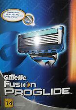NEW & SEALED Gillette FUSION PROGLIDE razor blade pack (14 sealed blades)