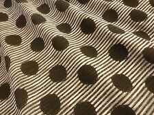 Spotted Striped Polycotton Knitted Single Jersey Spots Stripes Fabric Material