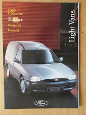 FORD LIGHT VANS orig 1995 UK Mkt Brochure - Fiesta 35 Courier 50 Escort 55 75