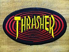 THRASHER New Skate patches Embroidered iron/sew on Patch  Material : Fabric & Gl